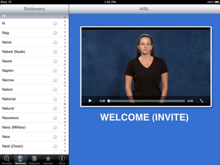 iASL for iPad screenshot-3