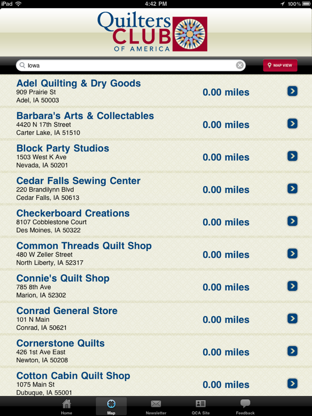 Quilt Shops for iPad on the App Store : quilt shop locator app - Adamdwight.com