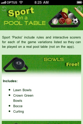 Sport on a Pool Table