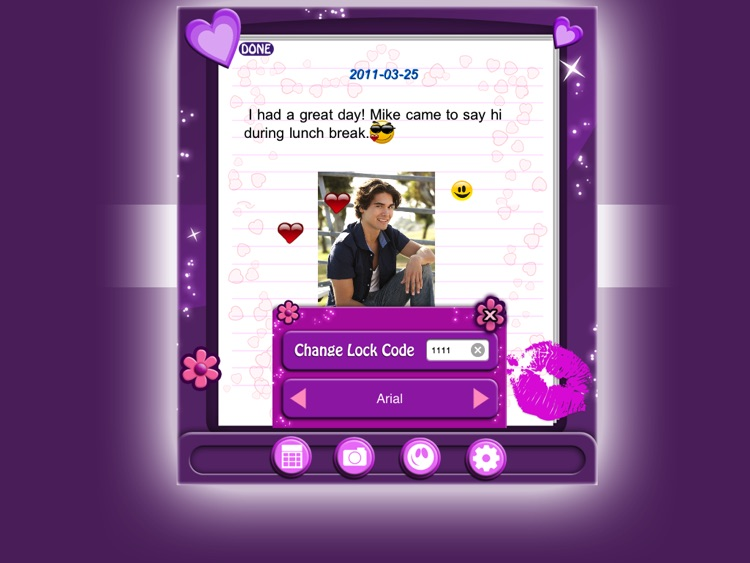 Amazing Secret Diary HD Lite screenshot-2