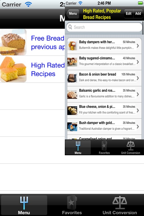 Bread Recipes for iPhone