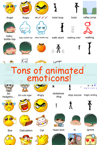 All 2D&3D Animations+Emoji PRO(FREE) For MMS,EMAIL,IM!