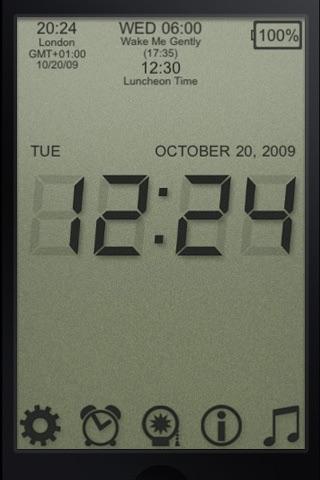 12,24 Alarm Clock Sleep Music screenshot-3