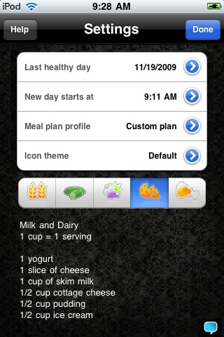 EatRight - Daily food log diet checklist healthy nutrition guide