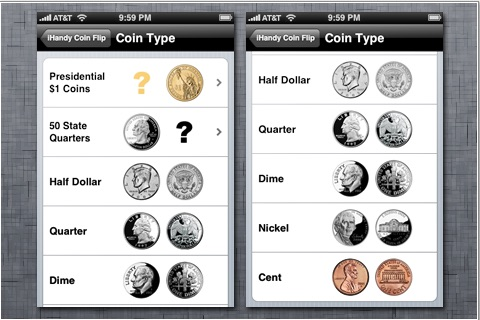 iHandy Coin Flip screenshot-2