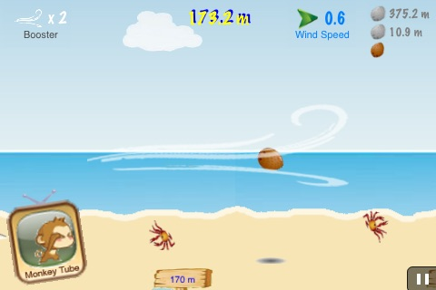 Air CocoMon LITE: Free Flight of the Monkey Coconut screenshot-3