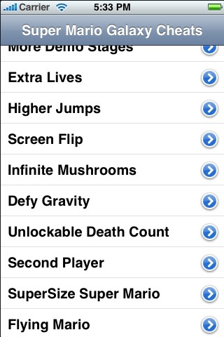 Cheats for Super Mario Galaxy - FREE