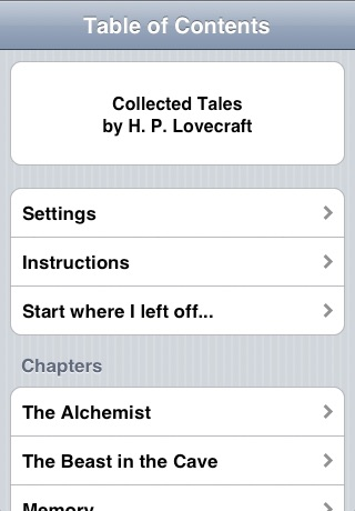 H. P. Lovecraft:  Collected Tales