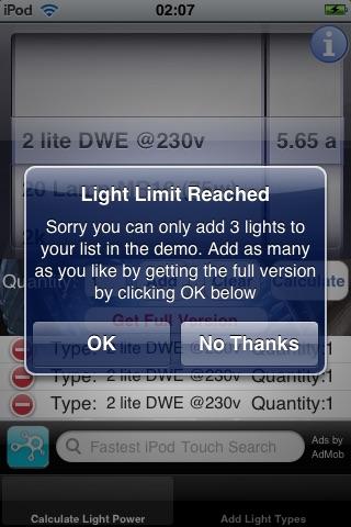 Light Power Calculator Lite screenshot-4