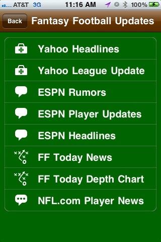 Fantasy Football News and Player Updater screenshot-4