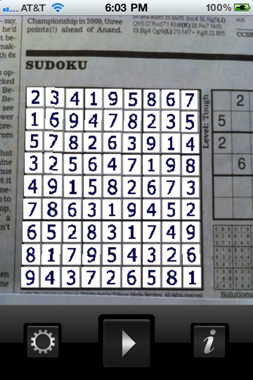 Sudoku Lens