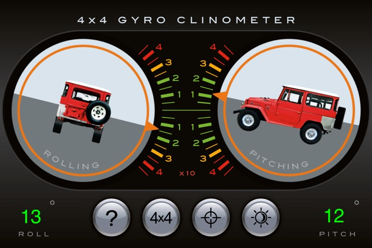 4x4 Gyroscope Clinometer