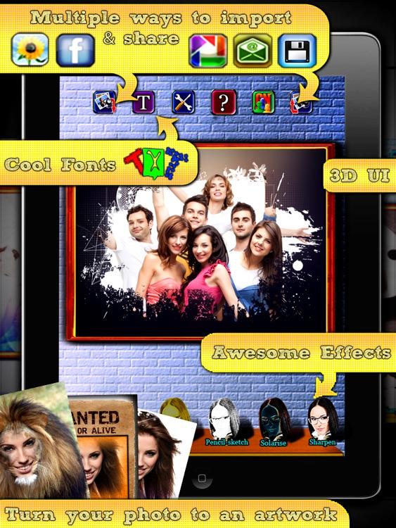 Album photo frames HD & fx : picasa + facebook albums integrated