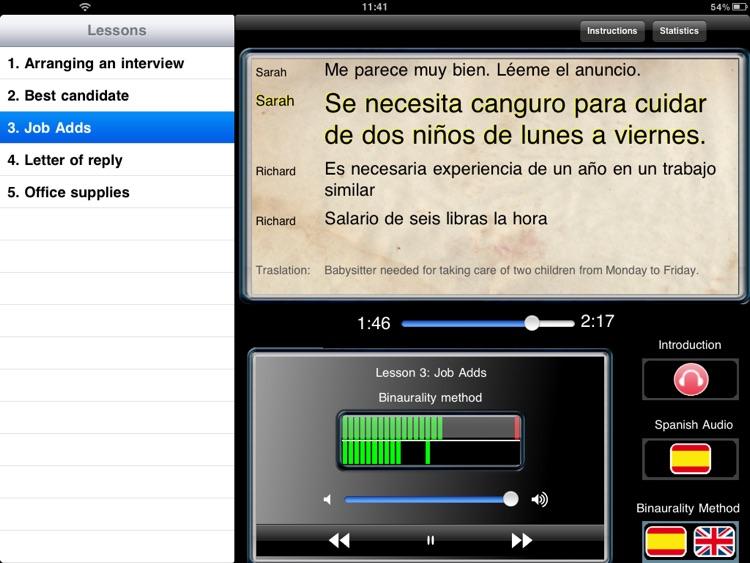 Listen & Learn spanish screenshot-3