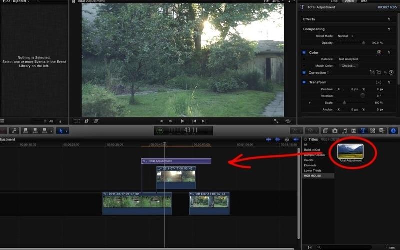 Total Adjustment for Final Cut Pro Screenshot