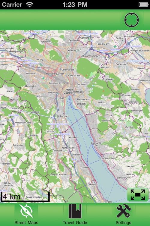 Zurich Offline Street Map