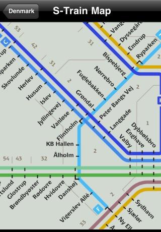 Denmark Subway Maps (Copenhagen)