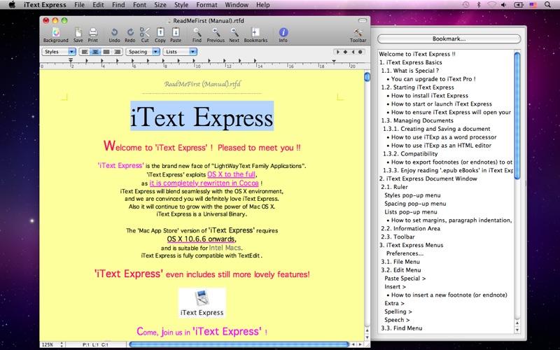 iText Express Screenshot
