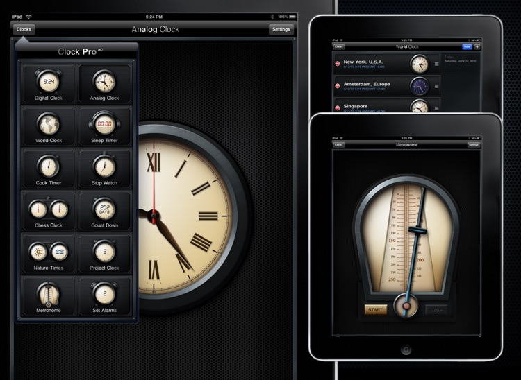 Clock Pro HD Free screenshot-3