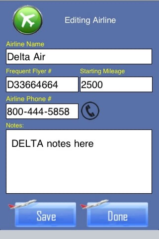 Frequent Flyer Mileage Tracker and Flight Log screenshot 3