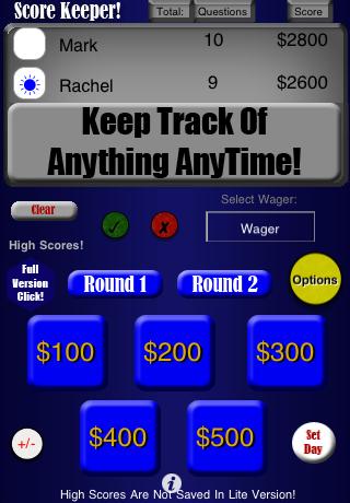 Score Keeper-Lite! screenshot 1