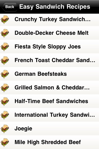 Easy Sandwich Recipes screenshot-3
