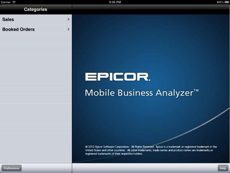 Epicor Mobile Business Analyzer