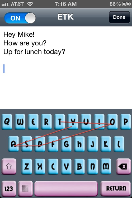 Easy Touch Keyboard