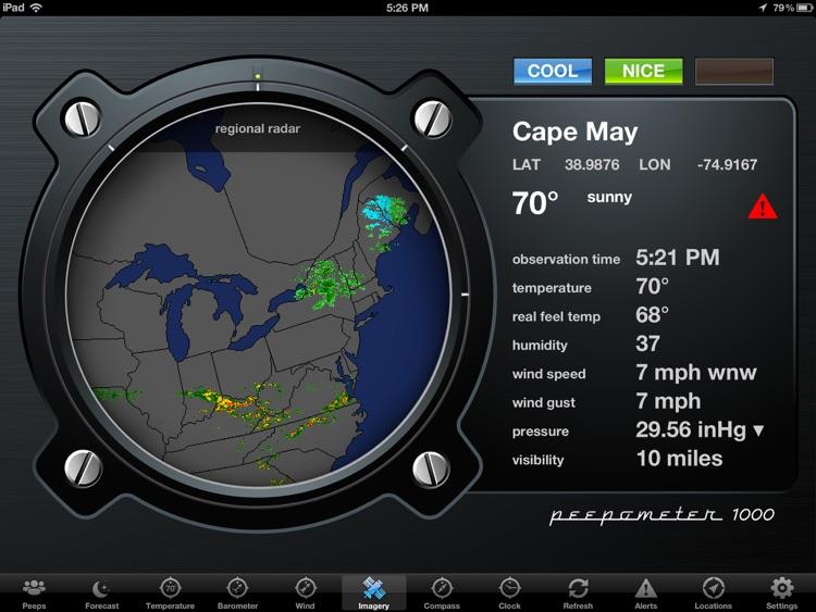Peepometer - a Retro Weather App by swackett screenshot-3