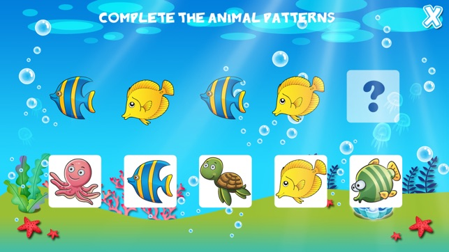 Animales Marinos Pequenos Preescolar Educativos Juegos De Peces