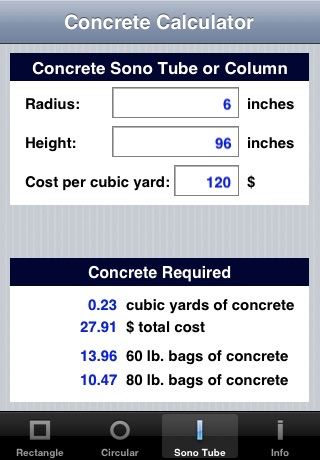 Concrete Calculator