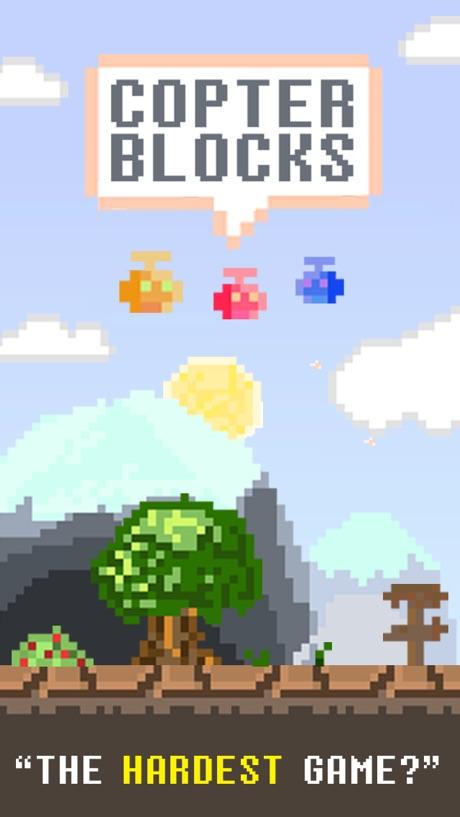 Copter Blocks FREE – Hard 8 bit Game