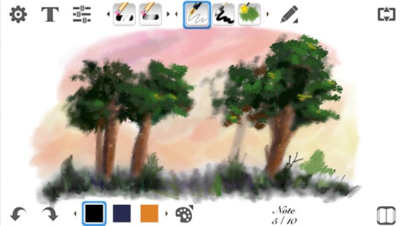 My Sketch Paper HD - Write, Paint on Notebook Screenshot