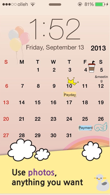 My Wallpaper Calendar screenshot-3