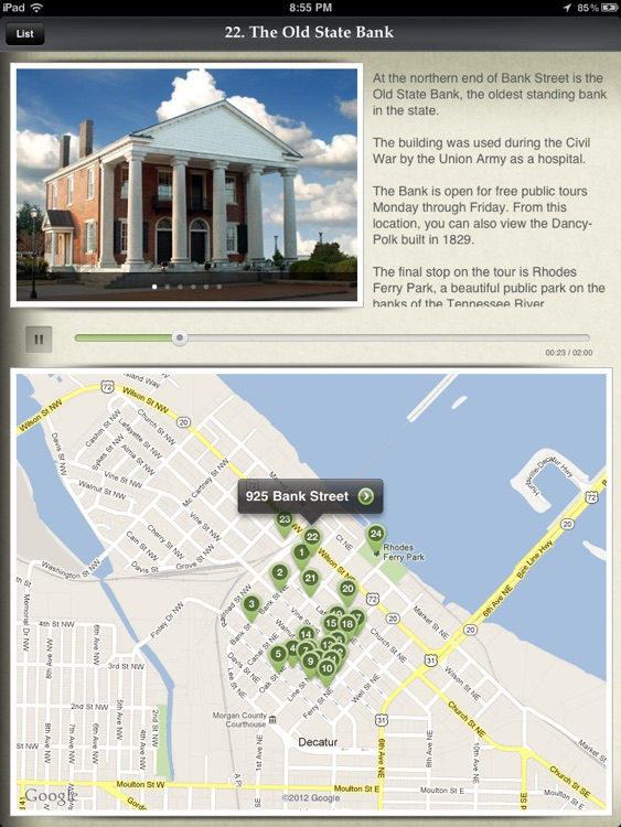 Old Decatur Historic Walking Tour for iPad - City of Decatur, AL
