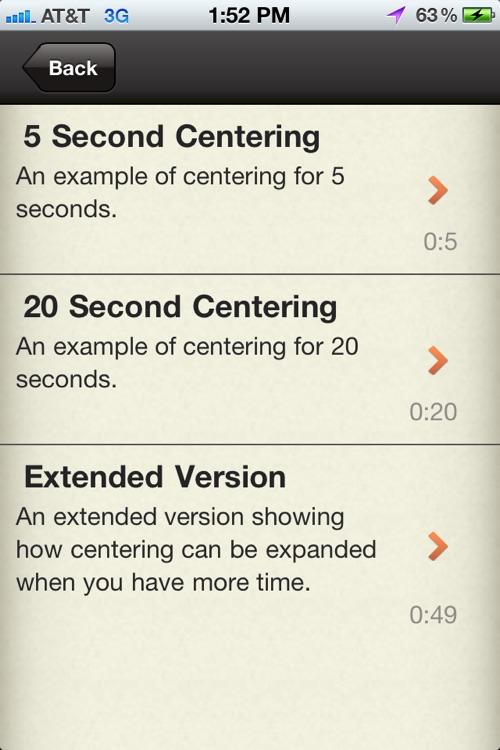 Centering Practice - Leadership Embodiment screenshot-3