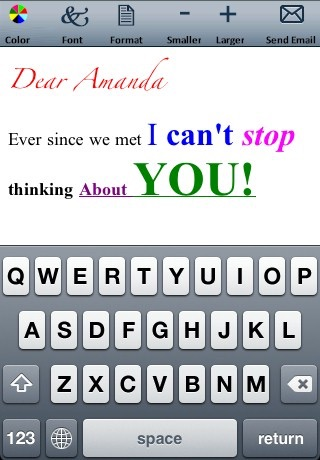 Email Text and Emoticons Editor (Colors, fonts, formats and sizes) screenshot-4
