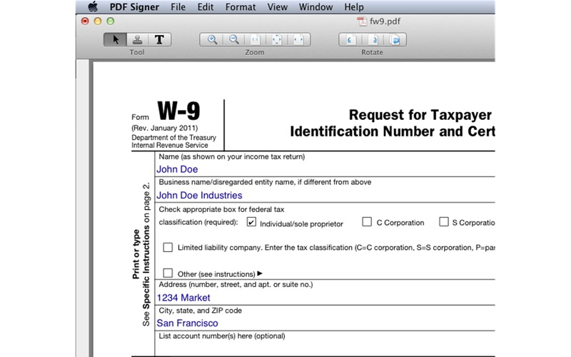 PDF Signer 快速填写PDF文件 for Mac