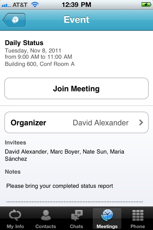 Microsoft Lync 2010 for iPhone screenshot-3