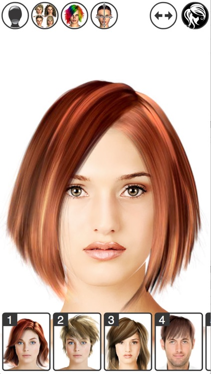 Hairstyle Magic Mirror Change your look Lite screenshot-0