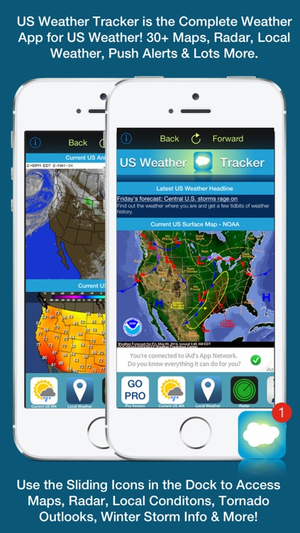 US Weather Tracker Free - Weather Maps, Radar, Severe & Tornado Outlook & NOAA Forecast