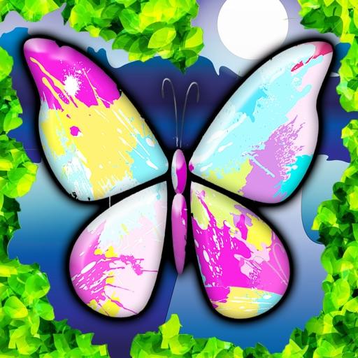 Бабочки - раскраска для девочек и мальчиков, детские раскраски, цветы, растения и насекомые - развивающие игры, мультики и песни для детей