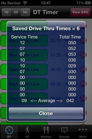 Screenshot of Fast Food Timer