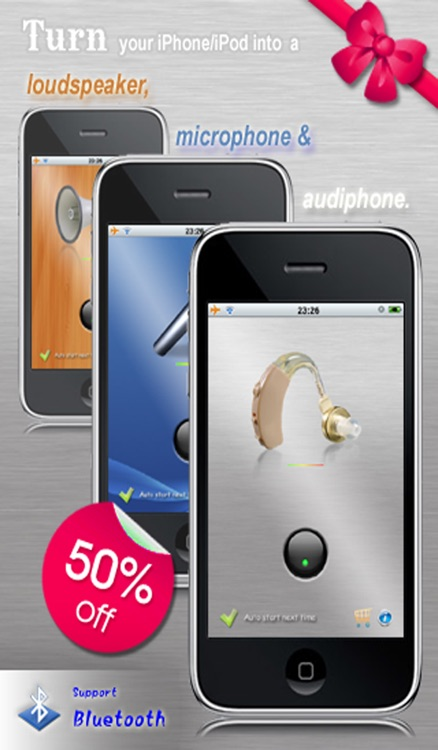 Audiphone, Microphone & Loudspeaker (Supports Bluetooth)