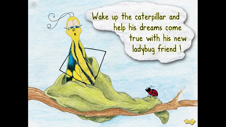 The Caterpillar and the Ladybug - an interactive children's story book HD screenshot-4