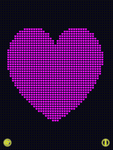 Glow Neon Heart Lights Lite Скриншоты8
