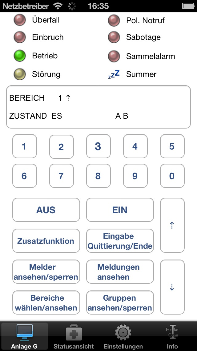 AlarmPanel iPhone
