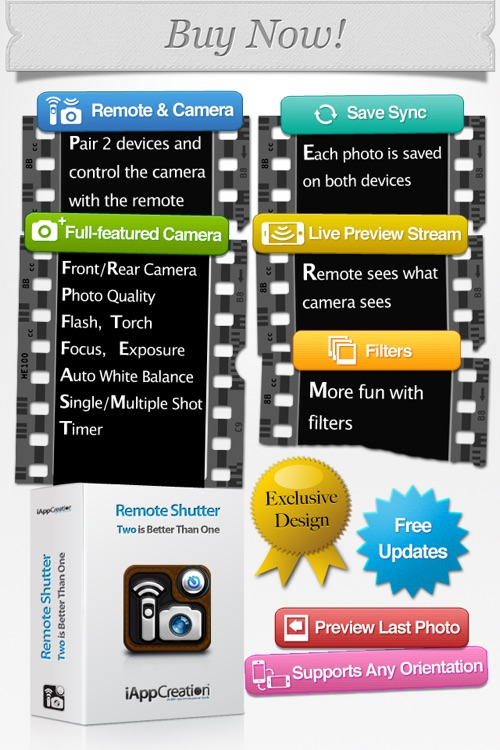 Remote Shutter Pro - Camera Timer with lens filter screenshot-4