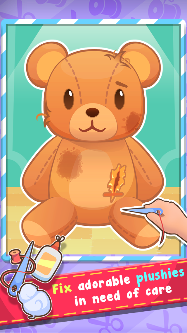 Plush Hospital - Teddy Bear and Pet Plushies Doctor Game for Kids Screenshot