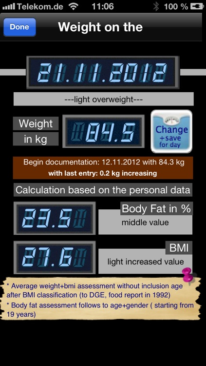 Bmi/BodyFat Calculator+More